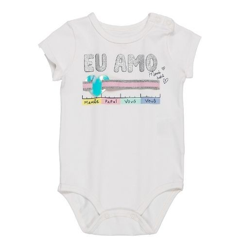 Body Bebê Feminino Medidor Eu Te Amo