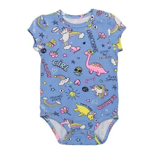 Body Bebê Feminino Unicornio com Arco Íris Momi