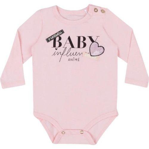 Body Bebê Feminino Rosa Baby Influencer