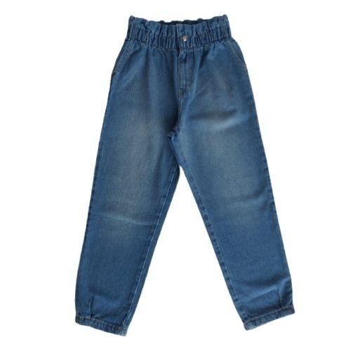 Calça Infantil Feminina Jeans Clochard