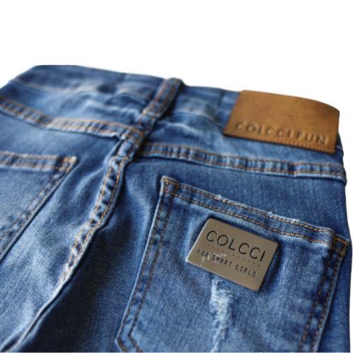 Calça Jeans Feminina Destroyed Infantil