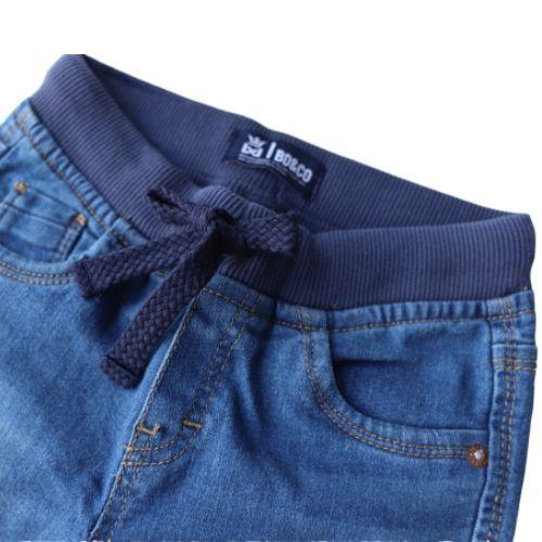 Calça Jeans Infantil Masculina Cós com Cordão
