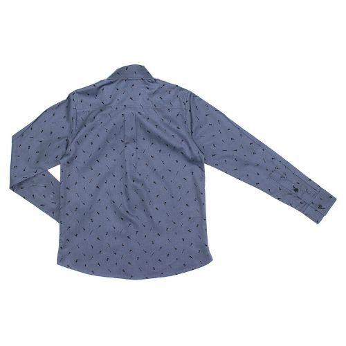 Camisa Infantil Masculina Azul com Guitarras