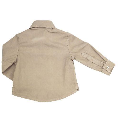 Camisa Infantil Masculina Cinza Logo Bordada