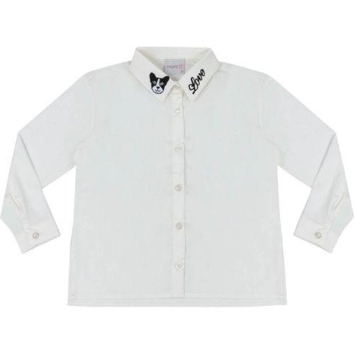 Camisa Infantil Feminina Golinha Bordada Cachorrinho