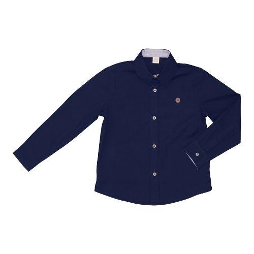Camisa Infantil Masculina Azul Marinho 1+1