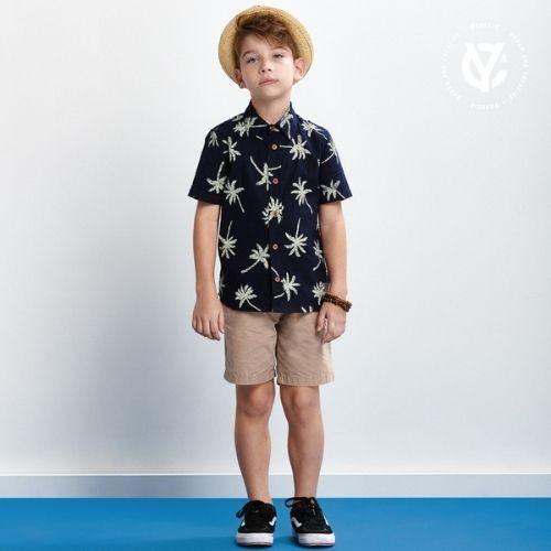 Camisa Infantil Masculina Estampada