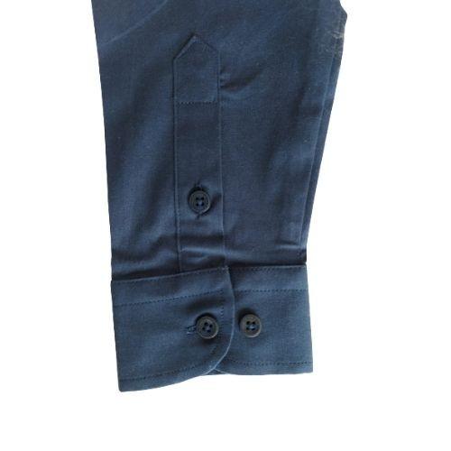 Camisa Infantil Masculina Slim Azul Marinho