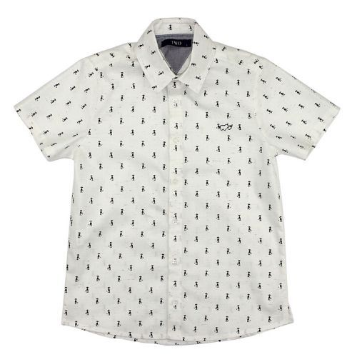 Camisa Infantil Masculina Off White Pinguins