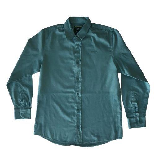 Camisa Infantil Masculina Slim Verde