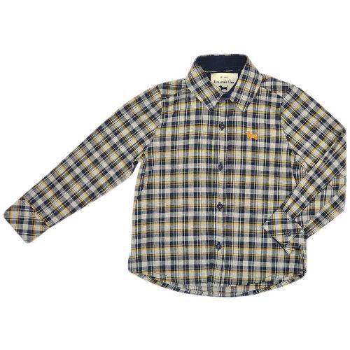 Camisa Infantil Masculina Xadrez Logo Bordado 1+1