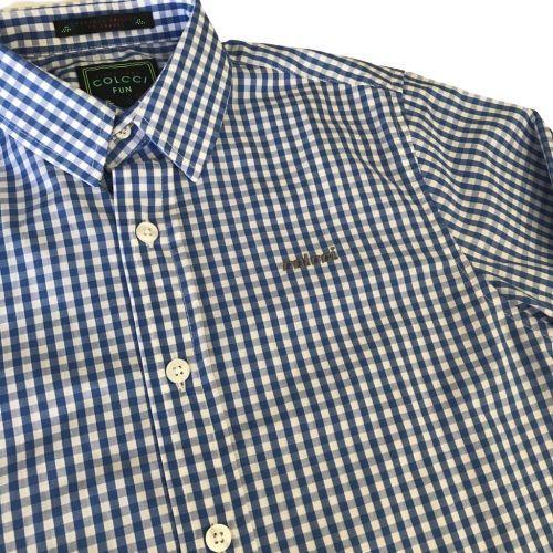 Camisa Infantil Masculina Xadrez Vichy Azul