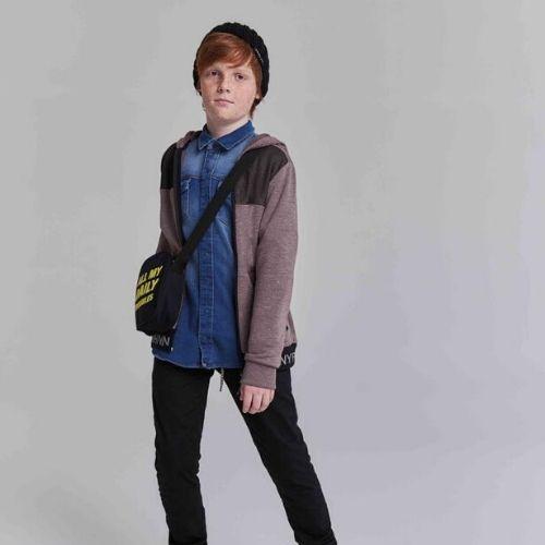 Camisa Jeans Infantil Masculina com Bolsos