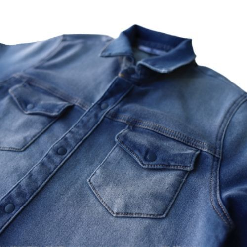 Camisa Jeans Infantil Masculina com Bolsos Johnny Fox
