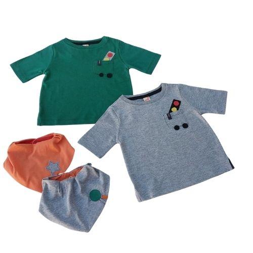 Camiseta Bebê Masculina Bolso Semáforo Green By Missako