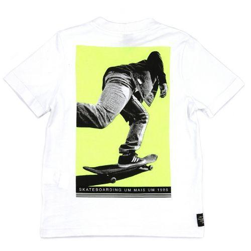 Camiseta Infantil Masculina Branca Skatista