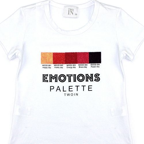 Camiseta Infantil Feminina Branca Emotions