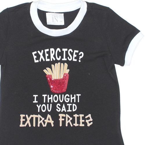 Camiseta Infantil Feminina Exercise Batata Frita