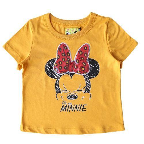 Camiseta Infantil Feminina Amarela Minnie
