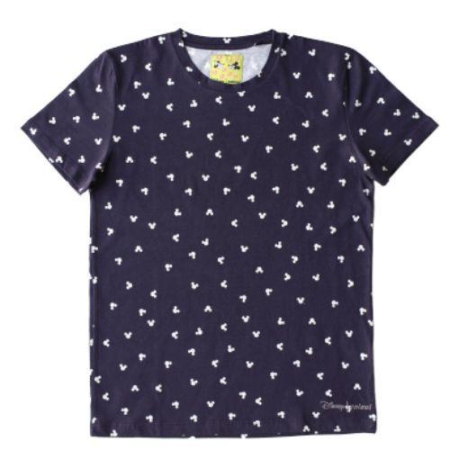 Camiseta Infantil Masculina Azul Marinho Estampa Mickey