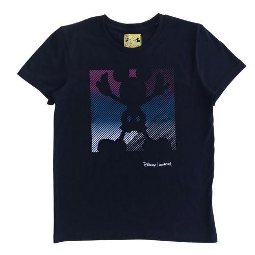 Camiseta Infantil Masculina Azul Marinho Mickey Silhueta