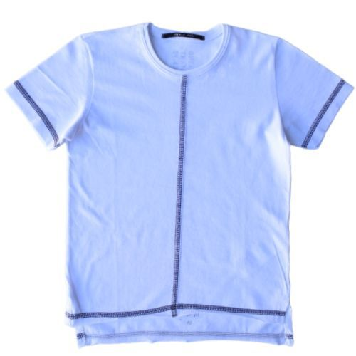 Camiseta Infantil Masculina Branca com Costura Preta