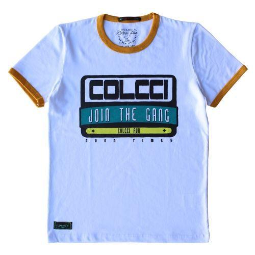 Camiseta Infantil Masculina Branca Join the Gang Colcci Fun