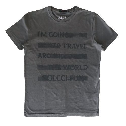 Camiseta Infantil Masculina Chumbo I'm Going to Travel
