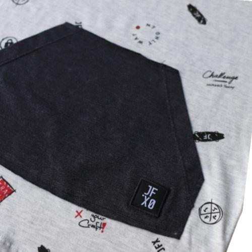 Camiseta Infantil Masculina Cinza com Bolso Canguru
