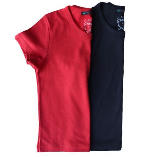 Camiseta Infantil Masculina Cores Sólidas