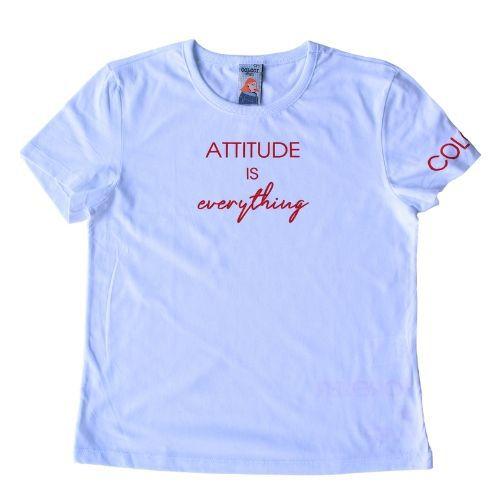 Camiseta Infantil Feminina Attitude Is Everything Colcci Fun