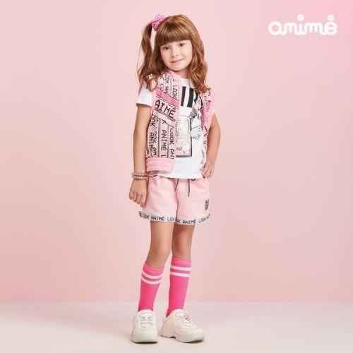 Camiseta Infantil Feminina Branca Vídeo Game