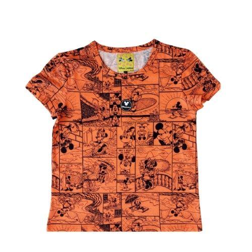 Camiseta Infantil Feminina Laranja Quadrinhos Minnie Colcci Fun
