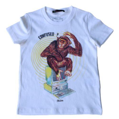 Camiseta Infantil Masculina Macaco Confused
