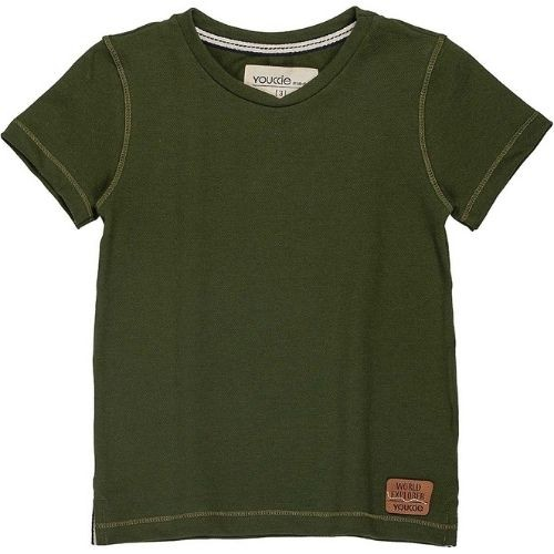Camiseta Infantil Maculina Verde Militar