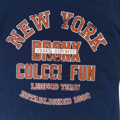 Camiseta Infantil Masculina Azul Marinho New York