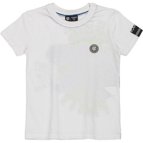 Camiseta Infantil Masculina Branca Estampa Costas Youccie