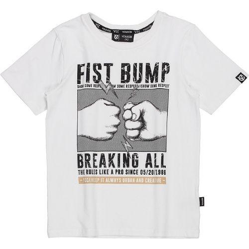 Camiseta Infantil Masculina Branca Estampada