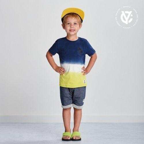 Camiseta Infantil Masculina Degrade
