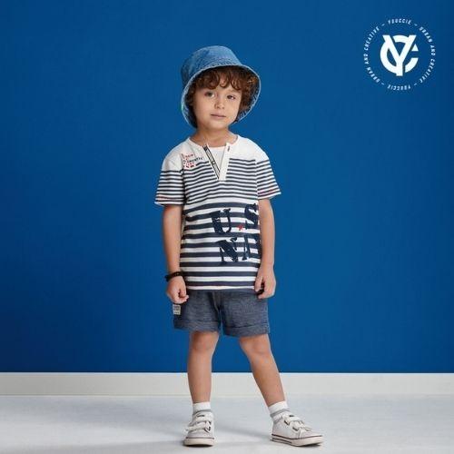 Camiseta Infantil Masculina Listrada
