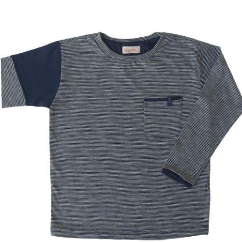 Camiseta Infantil Masculina Manga Longa Listrada