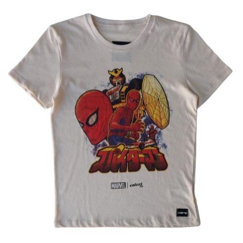 Camiseta Infantil Masculina Marvel Homem Aranha Colcci Fun