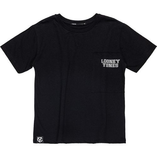 Camiseta Infantil Masculina Preta com Bolso Looney Toones