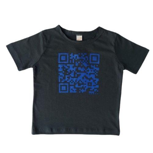 Camiseta Infantil Masculina QR Code Green By Missako