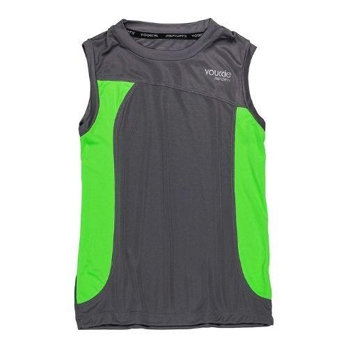 Camiseta Infantil Masculina Regata com Detalhes Verde Neon