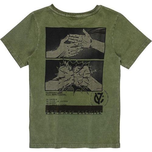 Camiseta Infantil Masculina Verde Militar