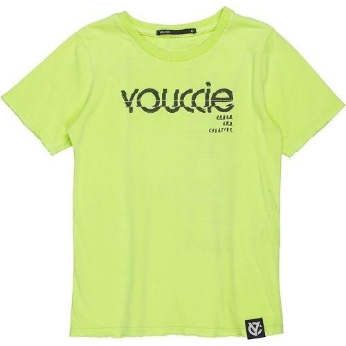 Camiseta Infantil Masculina Verde Neon Estampa  Costas