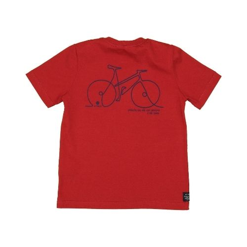 Camiseta Infantil Masculina Vermelha Bike