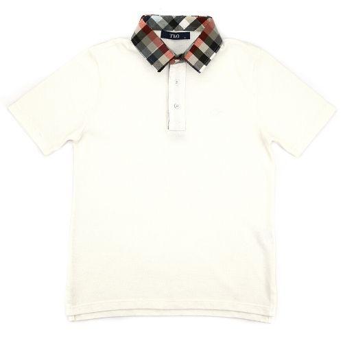 Camiseta Infantil Polo Masculina com Gola Xadrez