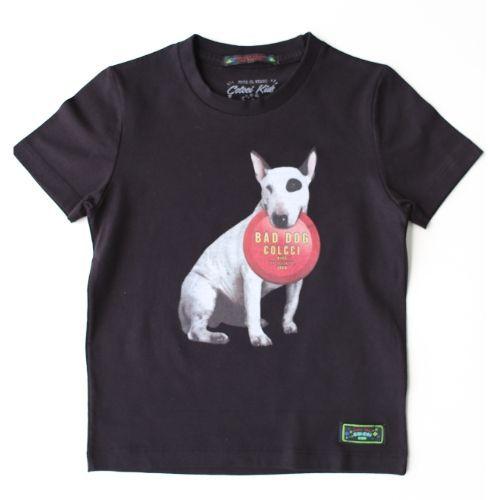 Camiseta Infantil Masculina Preta Bad Dog